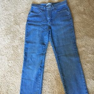 High waisted Lee straight leg jeans